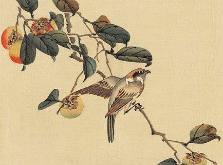 Vintage, Japanese, Watercolour
