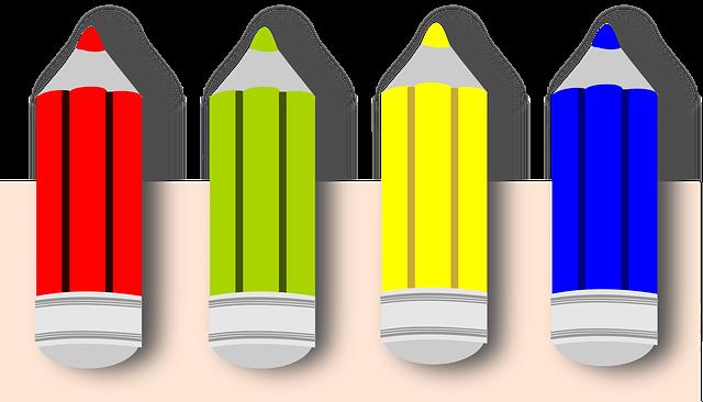 Pencil And In Color Camo Clipart: Crayon Couleurs De Couleur · Images Vectorielles Gratuites