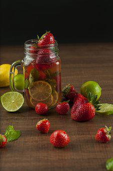 Infused Water Water Juice Strawberry Lime