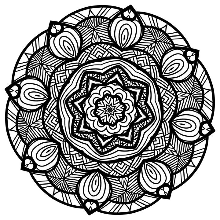 ilustraci n gratis mandala l nea arte blanco y negro