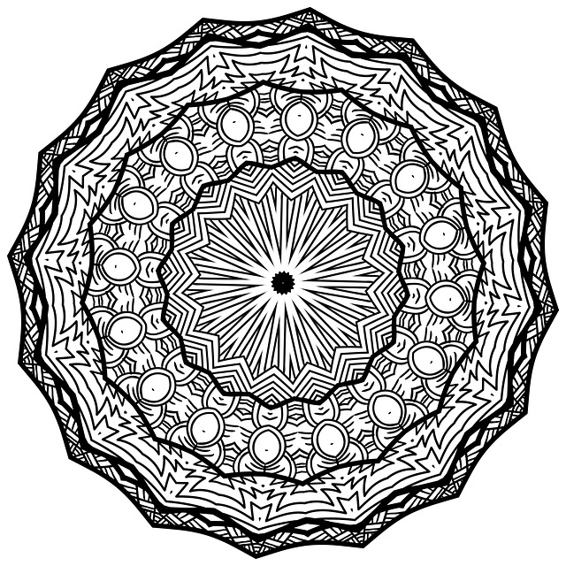 Mandala Line Art Black And White 183 Free Image On Pixabay