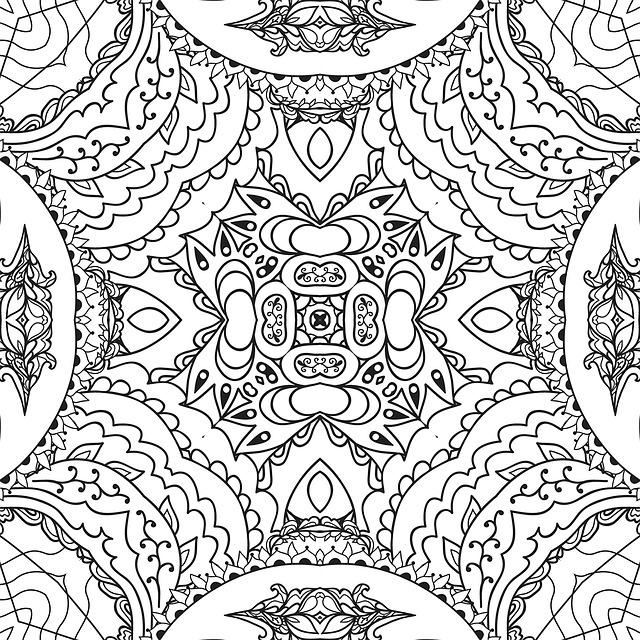 illustrazione gratis mandala linea arte bianco e nero