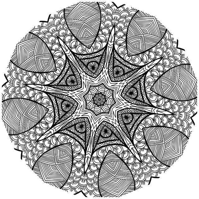 Free Illustration Mandala Line Art Black And White