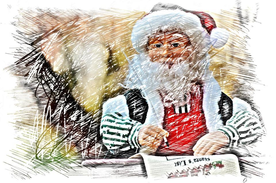 Christmas Santa Claus Drawing Colorful Figure