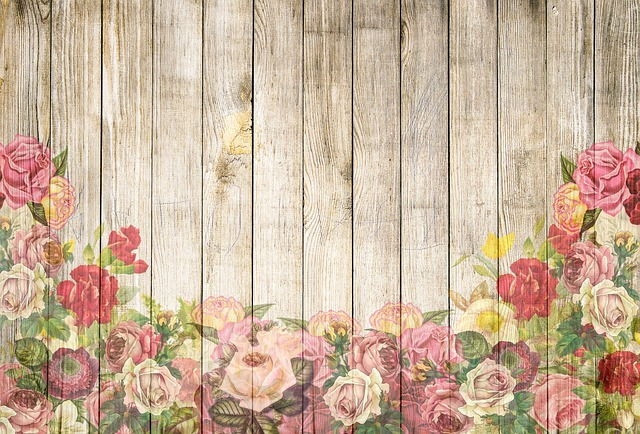 free illustration  roses  wooden wall  background
