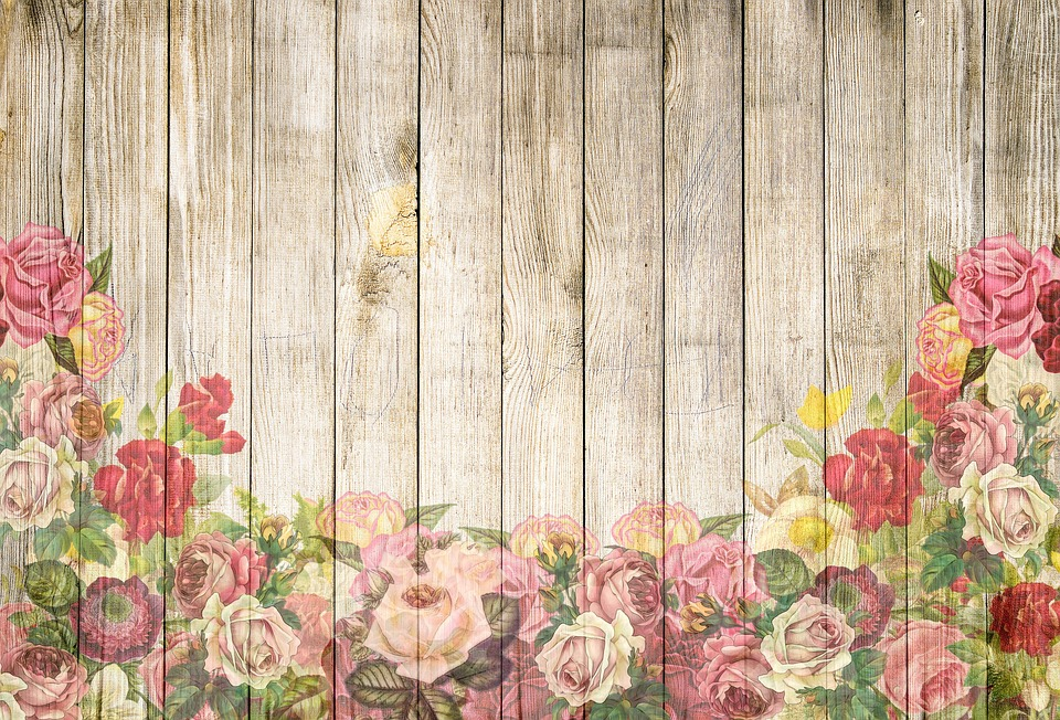 Free Illustration Roses Wooden Wall Background Free