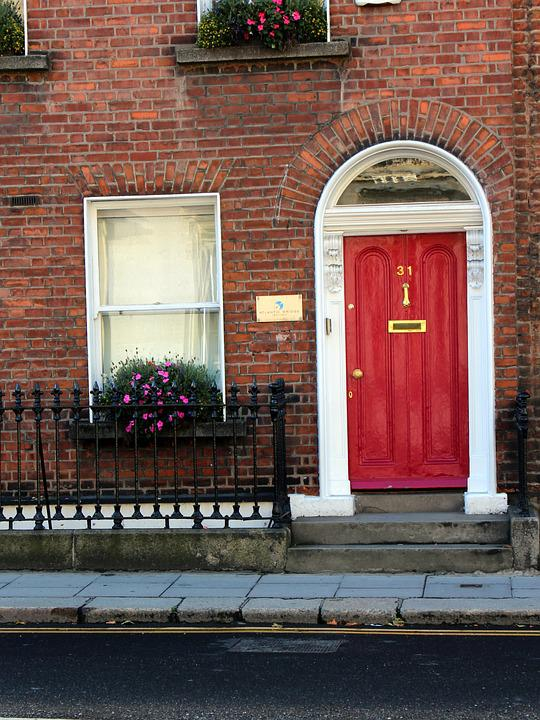 Apartment Building Door free photo: red door, apartment, entrance - free image on pixabay