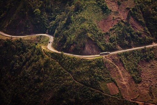 Road, Truck, Curve, Transportation