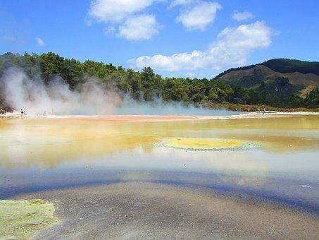 New Zealand Rotorua Geothermal Wai-O-Tapu