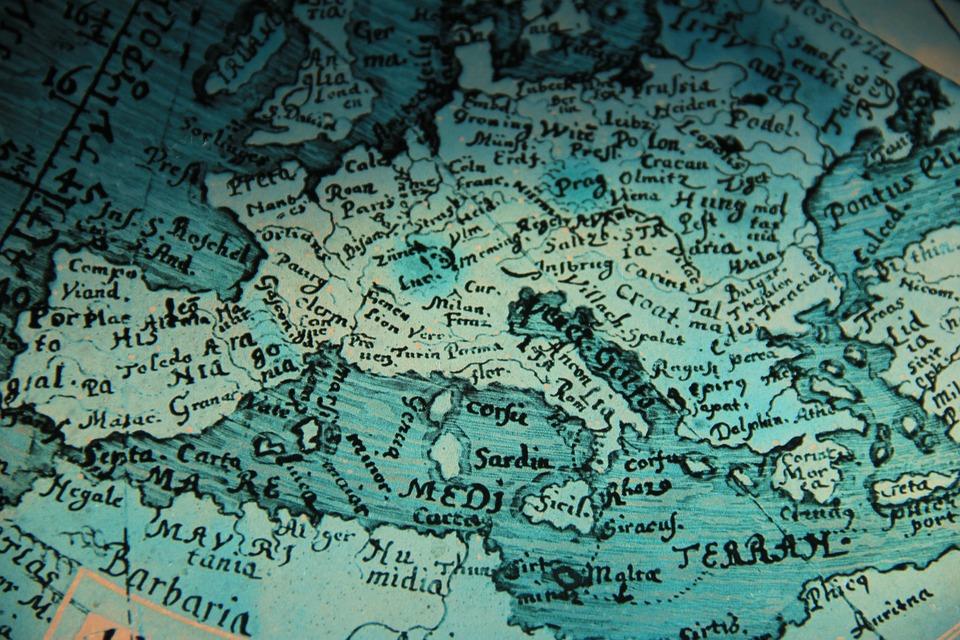 Kartta Lasi Euroopan Ilmainen Valokuva Pixabayssa