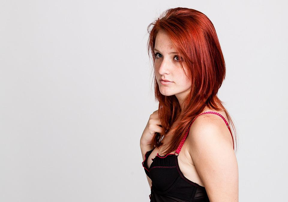red with hair girl Young