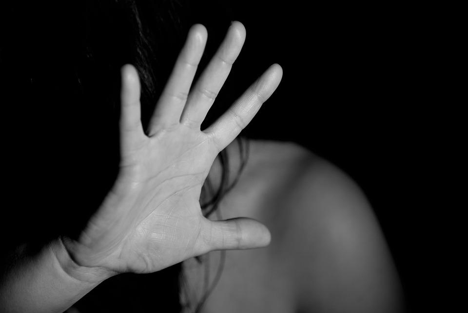 手, 女性, ヌード, 恐怖, 暴力, 苦悩, 抑圧, 防衛, 停止, に反対する