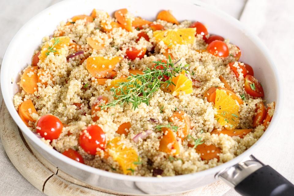 Pan, Quinoa, Colorful, Vegetables, Vegan, Vegetarian