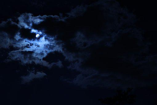 Moon, Sky, Clouds, Nature, Outdoor