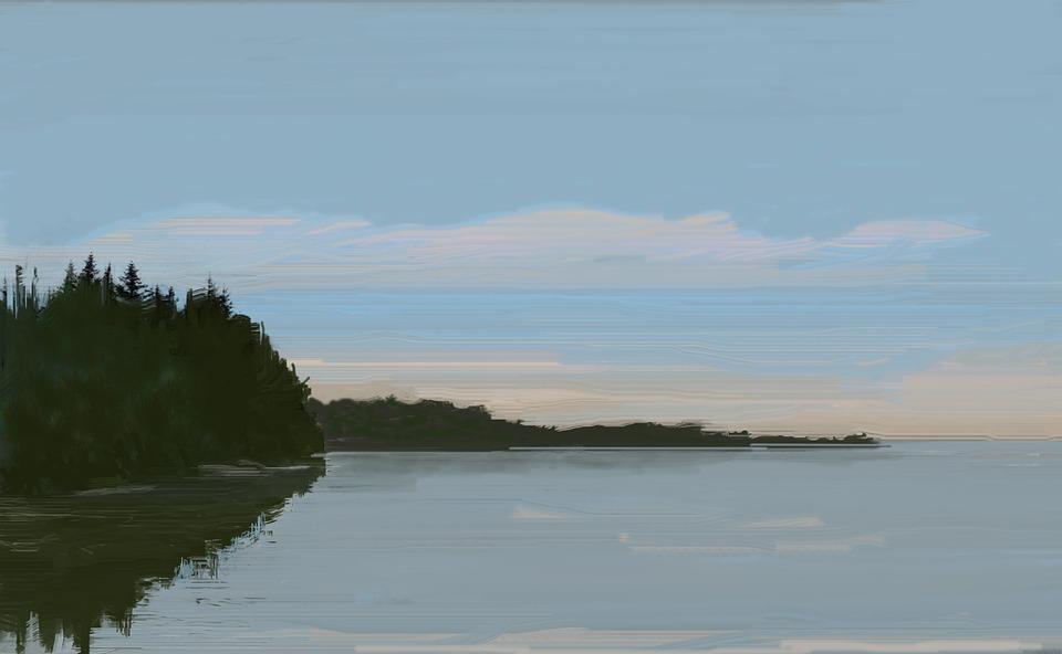 Boyama Göl Sabah Pixabayde ücretsiz Resim