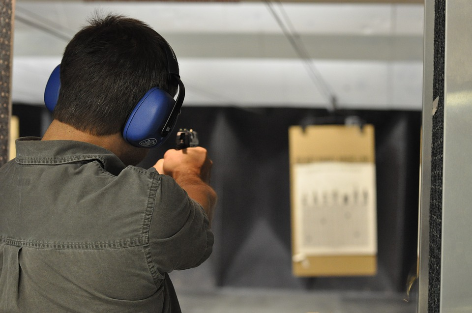 Shooting, Gun, Handgun, Pistol, Man, Shoot, Defense