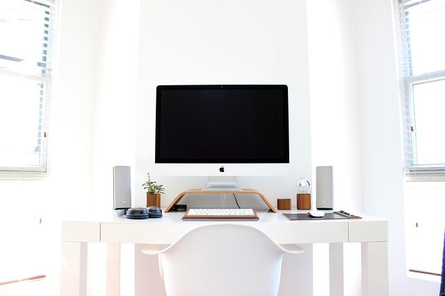 Apple, Chair, Computer, Desk, Table, Technology