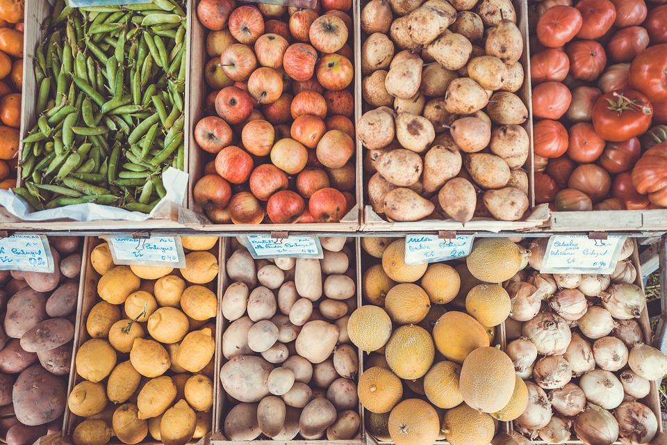Cassette, Colori, Cibo, Frutta E Verdura Supporto