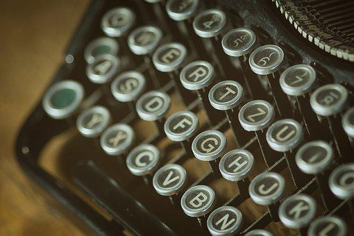 Letters, Old, Typewriter, Vintage, Text