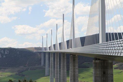 Bridge, Clouds, Design, Engineering