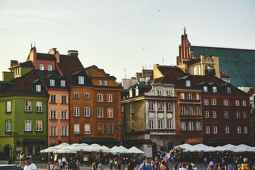 アーキテクチャ, 建物, 群衆, 人, 通り, 町, 都市