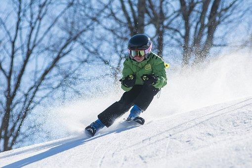 Junge, Ski, Skifahren, Kälte, Brille
