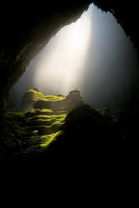 Cave, Caverne, Sombre, Lumière Du Jour, Paysage, Mousse