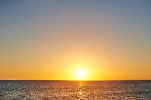 Ocean, Sunset, Sun, Sunrise, Water, Sea