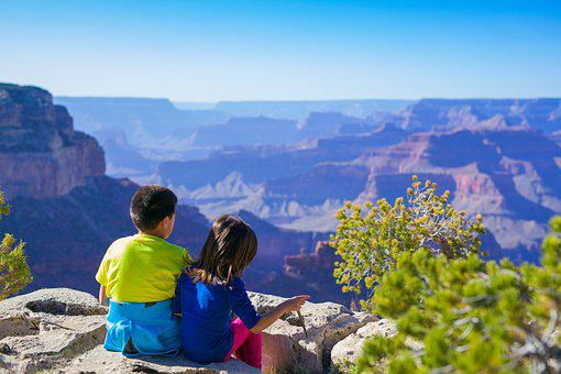 Canyon, Children, Hike, Kids, Landscape
