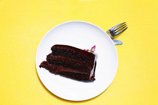 Cake, Chocolate, Dessert, Food, Fork