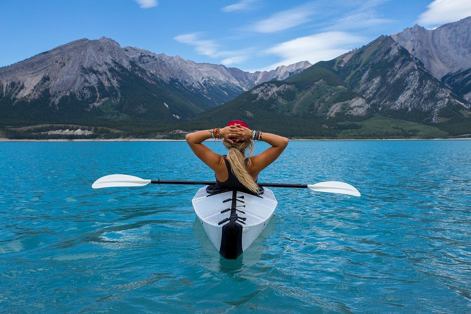 Adventure, Clear Water, Exercise, Female, Kayak, Lake