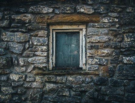 Maison, Vieux, Mur De Pierre, Fenêtre