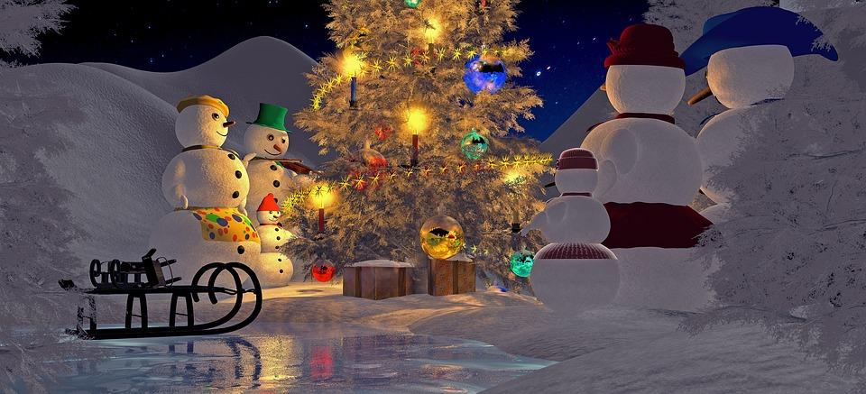 weihnachten heiligabend tannenbaum kostenloses bild auf. Black Bedroom Furniture Sets. Home Design Ideas
