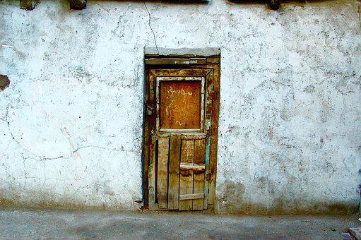 Door Old Rustic Wall Wooden