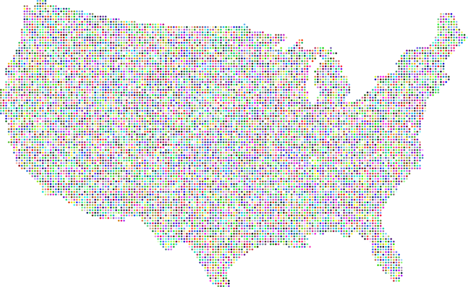 Free Vector Graphic America United States Usa Map Free Image - Free us map vector