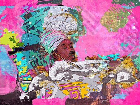 Sketch, Bali, Travel, Painting, Collage