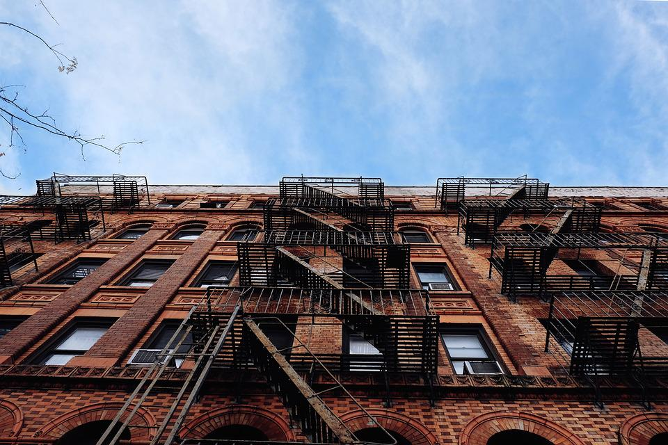 Architecture Brick Building City Fire Escape