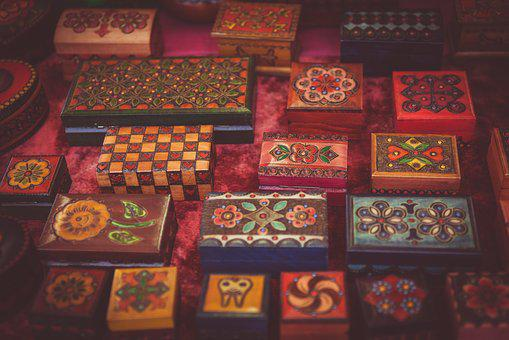 Art Boxes Color Colorful Colourful Contain