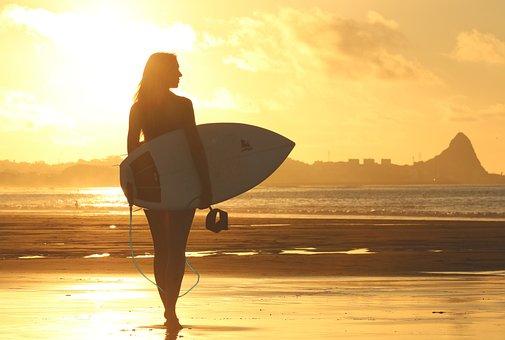Beach Clouds Dawn Girl Ocean Recreation Sa