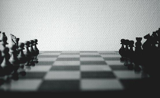 Chess Board, Chessboard, Black And White