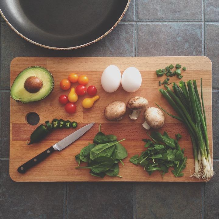 Abacate, Tábua, Cozinha, Ovos, Alimentos, Frigideira