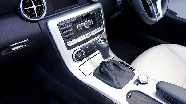 エアコン, 自動, 自動車, ベンツ, 車, 車内, 古典的な, デザイン