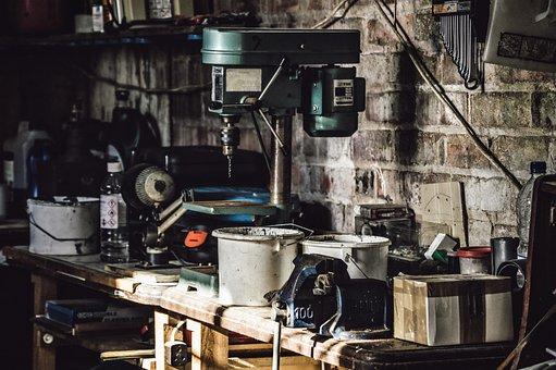 Drill, Equipments, Garage, Tools