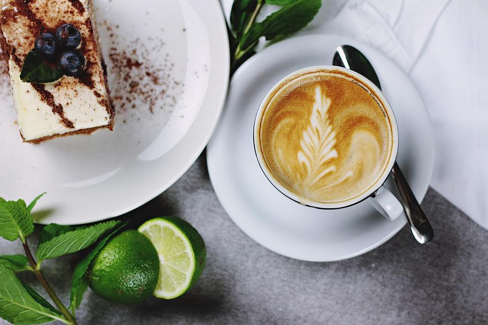 Torta, Cappuccino, Ceramica, Caffè, Coppa, Dessert