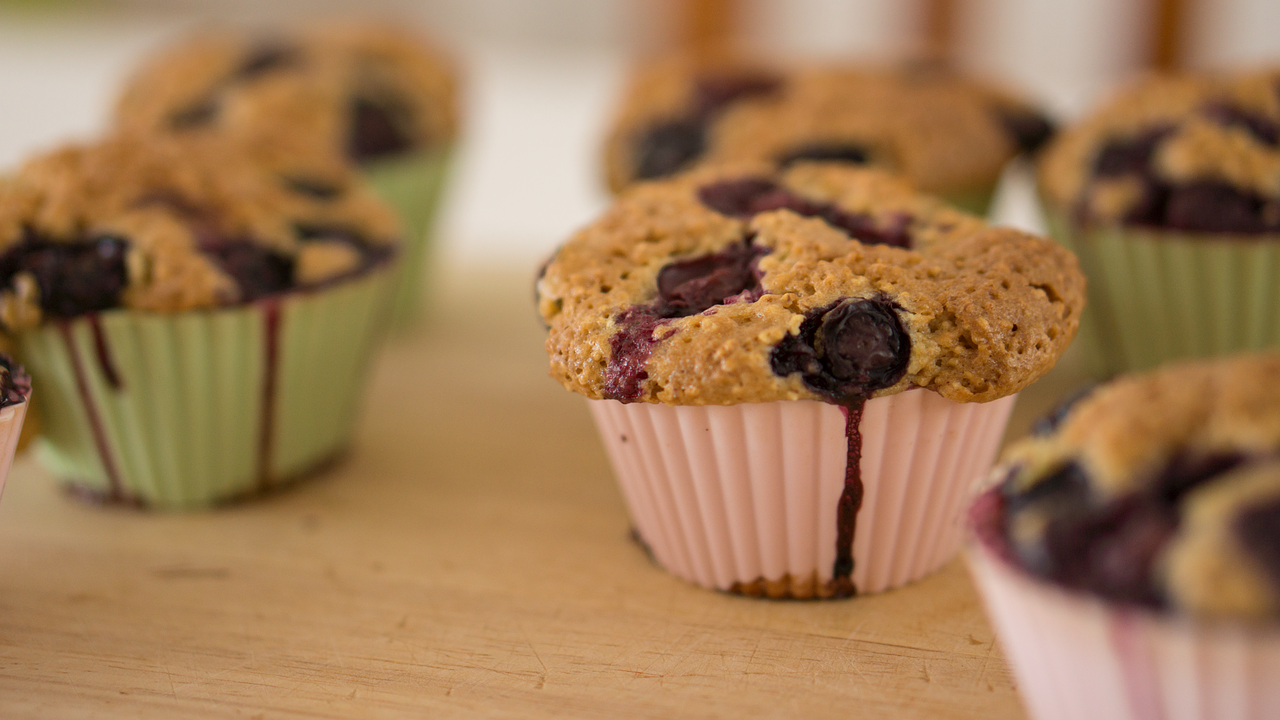 Healthy Blueberry Muffins for ADD