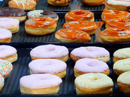 Confectionery, Dessert, Donuts