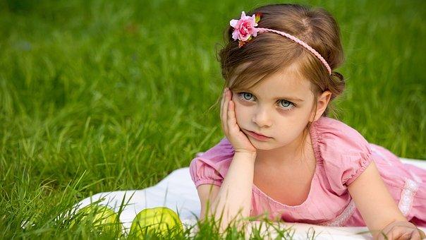 Girl, Grass, Nature, Summer, Cute, Fun
