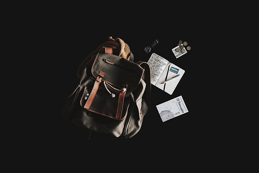 Backpack, Book, Travel Bag, Content