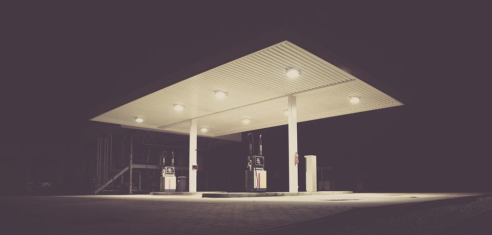 Photo of a gas station