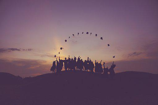 Dawn, Dusk, Graduates, Hill, People